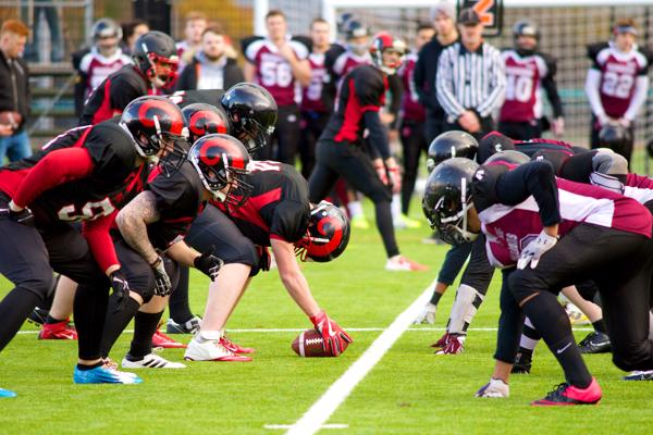 American football at the UCLan Sports Arena