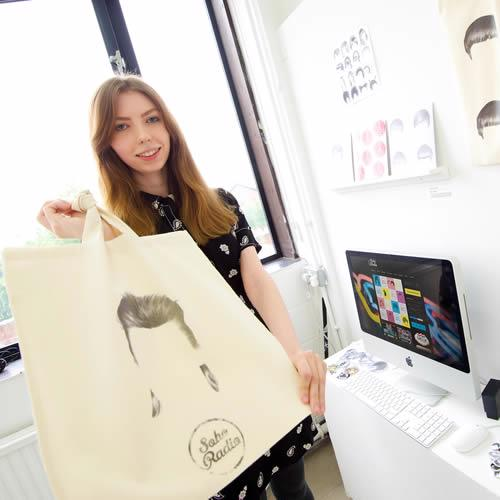 UCLan student Katie Lennon and her artwork